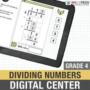 Fourth grade digital math center activity for google classroom