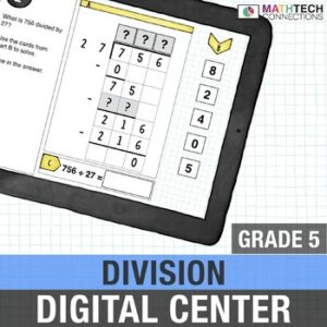 fifth grade digital math center activity for google classroom