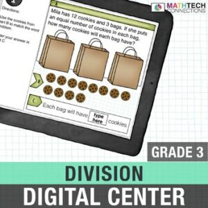 digital third grade division activities for math centers