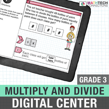 paperless third grade division activities for math centers
