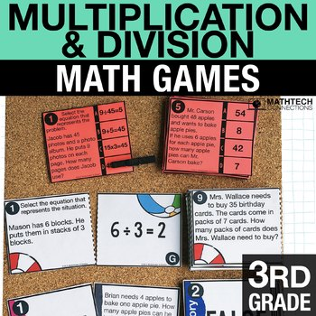 third grade division activities for math centers