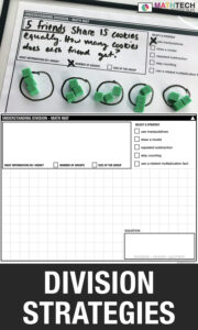 Division Strategies for Third Grade - Printable activities to introduce division