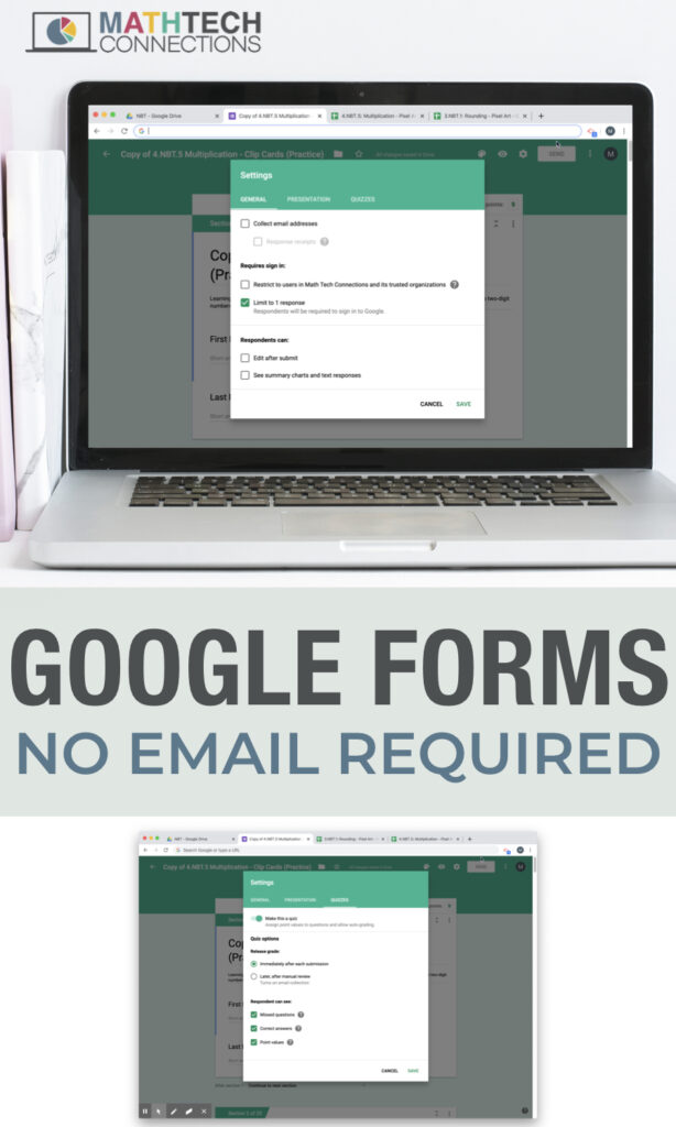 How to Use Google Forms without an Email - Google Forms in the Elementary Classroom