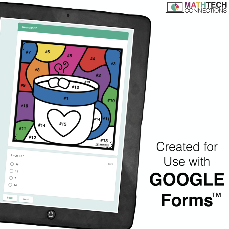 Digital Coloring Math Activities for Google Classroom