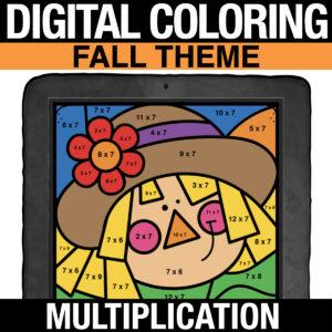 FALL Math Digital Multiplication Practice - Distance Learning Multiplication Practice for 3rd Grade