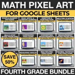 4th Grade Math Pixel Art Google Classroom Activities