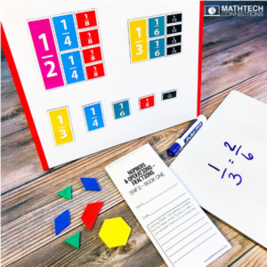 Use math manipulatives to compare fractions in 3rd, 4th, and 5th grade. Free math printable and ideas to compare fractions