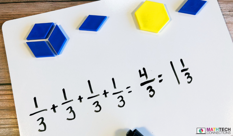 Using pattern blocks to teach adding and subtracting fractions to fourth and fifth grade students