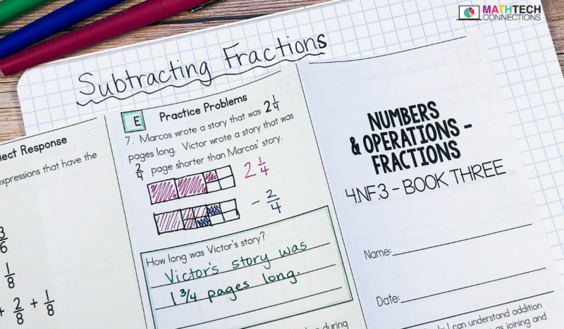 Adding and Subtracting Fractions - Word Problems for 4th and 5th grade students