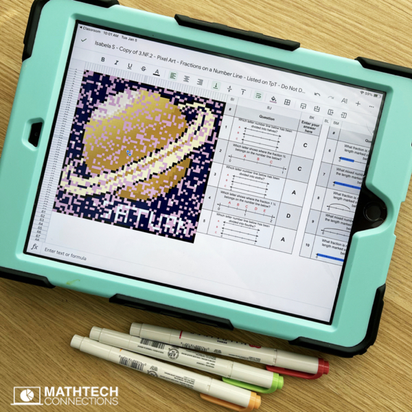Digital Math Centers, Digital Math Pixel Art for use as Math Games or during Guided Math