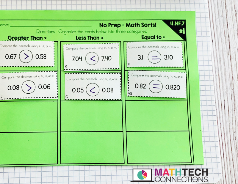 Cut and Paste Interactive Notebook Math Activities in Google Slides for 2nd, 3rd, 4th, and 5th Grade