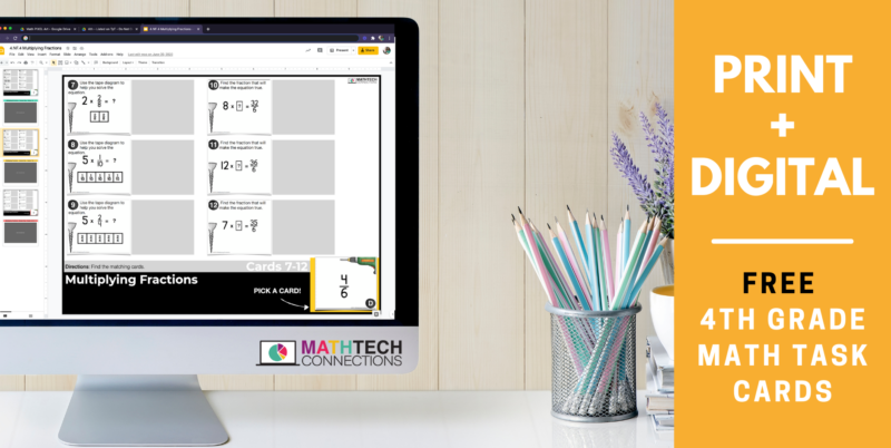 FREE Print and Digital 4th Grade Math Activities for Math Centers | Fourth Grade FREE Math Games