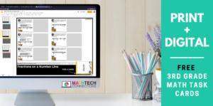 FREE Print and Digital 3rd Grade Math Activities for Math Centers | Math Games