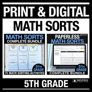 Digital and Printable Math Activities for Math Journals or Math Warm ups