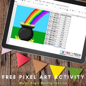 FREE Digital Mystery Image | FREE Multiplication Math Pixel Art - FREE digital math activities for Google Sheets