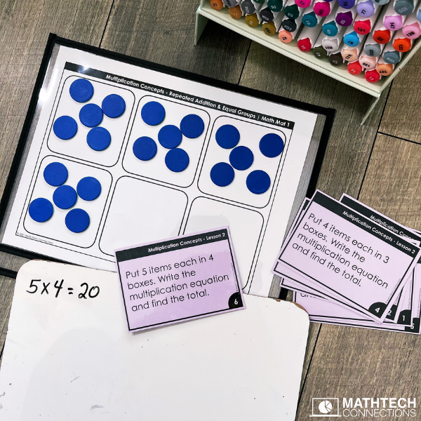 teaching multiplication concepts using repeated addition and equal groups - third grade how to introduce multiplication with fun, hands-on math activities using manipulatives and task cards