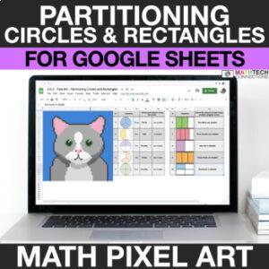 digital math pixel art free sample 2nd grade geometry