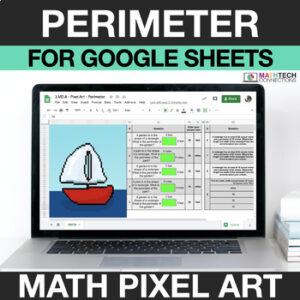 digital math pixel art free sample 3rd grade perimeter