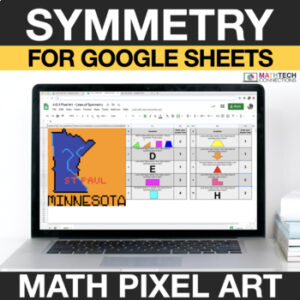 digital math pixel art free sample 4th grade symmetry