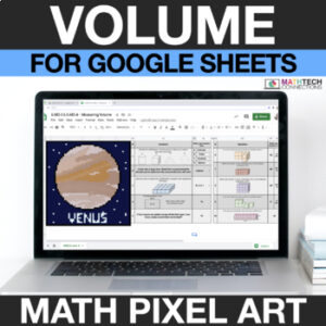 digital math pixel art free sample 5th grade volume