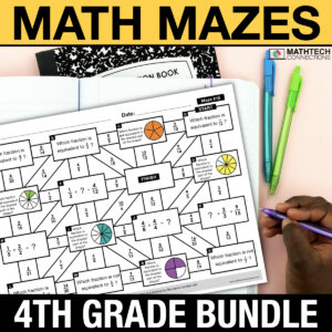 Use Math Mazes to review for end of year testing or add to an independent math center. These math activities are organized by math standard for easy planning! Available for grades 3-5.