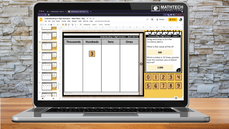Digital Math Place Value Activities for Google Slides 3rd Grade Guided Math Place Value Unit