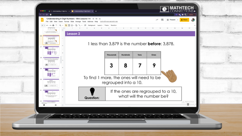 PowerPoint Math Mini-Lesson 3rd Grade Guided Math Place Value Unit