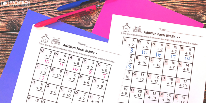 back to school math riddle - 3rd grade august math activities for the first week fo school - review 2nd grade math activities for third graders - third grade back to school math activities