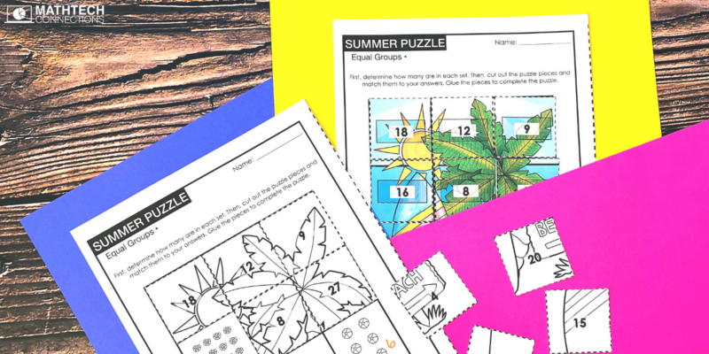 back to school summer puzzle - 3rd grade august math activities for the first week fo school - review 2nd grade math activities for third graders - third grade back to school math activities