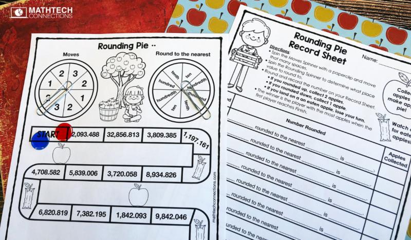 5th grade math rounding decimals board game