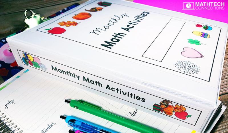 Third Grade Math Seasonal and Monthly Activities