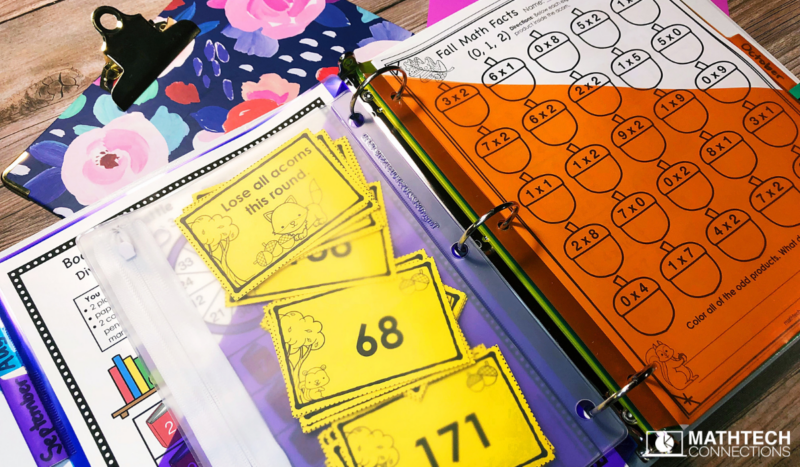 Organize Math Centers Third, Fourth, and Fifth Grade