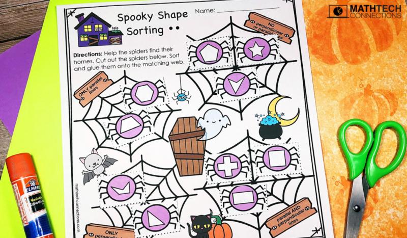 October Math Activities: Classify Shapes Sort