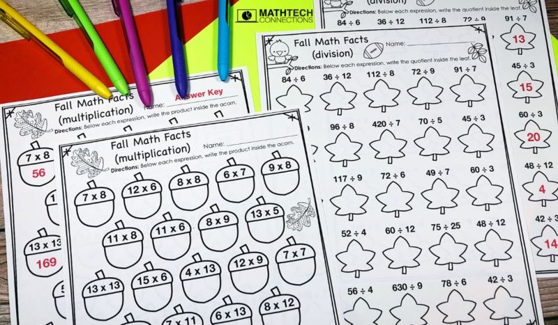 5th Grade Math Centers: Multiplication and Division Practice