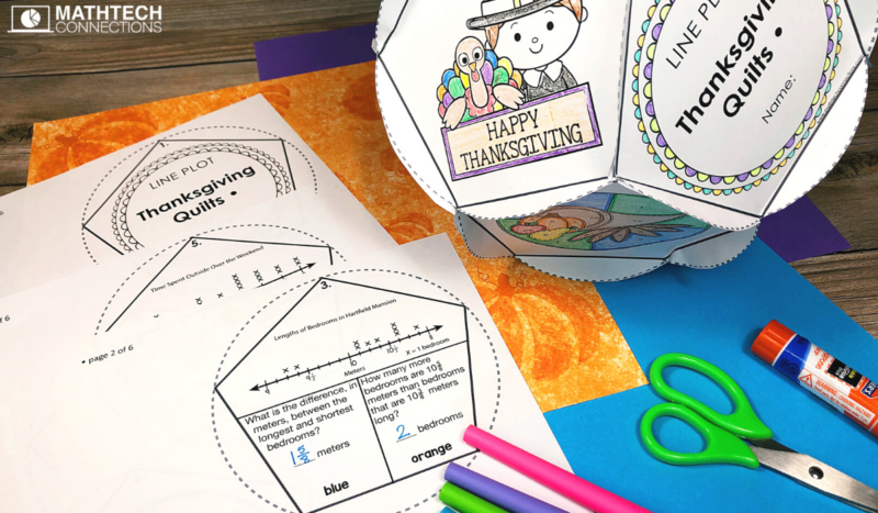 Thanksgiving Math Activity - November Classroom Decor or Display Dodecahedron